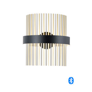 Chimes Black, Satin Nickel and Satin Brass LED Smart Home Wall Sconce