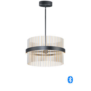 Chimes Black, Satin Nickel and Satin Brass 24-Inch LED Smart Home Pendant