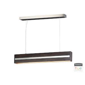 Zephyr Wenge and Polished Chrome One-Light LED Flush Mount