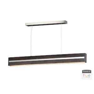 Zephyr Wenge and Polished Chrome One-Light LED Linear Pendant