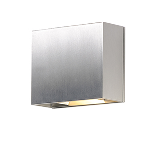 Alumilux Sconce Satin Aluminum Seven-Inch Two-Light LED Wall Sconce ADA