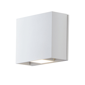 Alumilux Sconce White Seven-Inch Two-Light LED Wall Sconce ADA