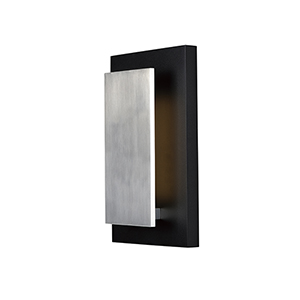 Alumilux Sconce Black and Satin Aluminum Nine-Inch LED Wall Sconce ADA