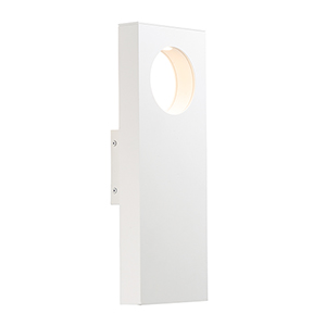 Alumilux Sconce White Five-Inch Two-Light LED Outdoor Wall Mount ADA