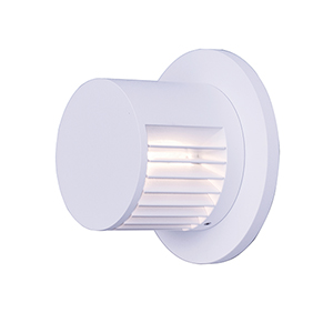Alumilux Sconce White Four-Inch LED Outdoor Wall Mount ADA/Energy Star
