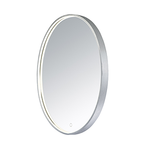 Mirror Brushed Aluminum 24-Inch ADA LED Mirror