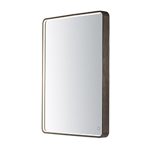 Mirror Anodized Bronze 24-Inch One-Light ADA LED Rectangular Mirror