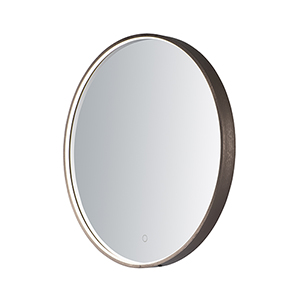Mirror Anodized Bronze 28-Inch One-Light ADA LED Round Mirror