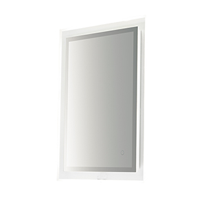 Mirror Stainless Steel 24-Inch One-Light ADA LED Rectangular Mirror