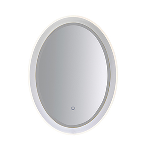 Mirror Stainless Steel 32-Inch One-Light ADA LED Oval Mirror