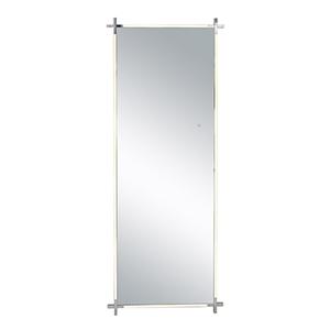 Mirror Polished Chrome Four-Light LED Mirror