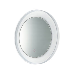 Floating Polished Chrome and White 24-Inch LED Lighted Mirror