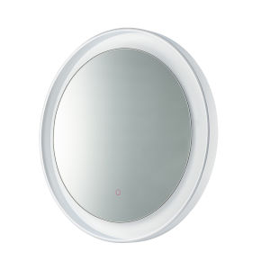 Floating Polished Chrome and White 32-Inch LED Lighted Mirror
