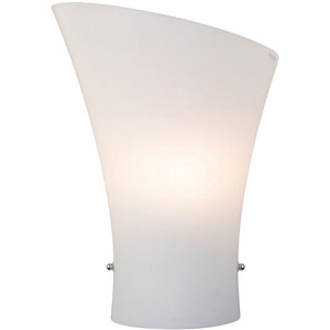 Conico Frost White Single-Light Wall Sconce