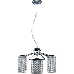 Tartan Polished Chrome Three-Light Pendant