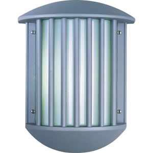 Zenith II Platinum Two-Light Fluorescent Outdoor Wall Mount with White Acrylic