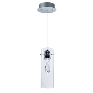 Solitaire Polished Chrome One-Light LED 4-Inch Mini Pendant
