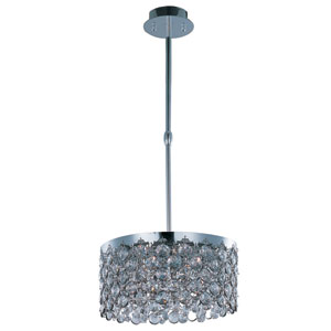 Dazzle Polished Chrome Five-Light 16-Inch Pendant