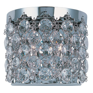 Dazzle Polished Chrome Two-Light 10-Inch Wall Sconce