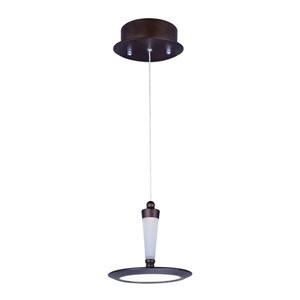 Hilite Bronze One-Light LED 7-Inch Mini Pendant