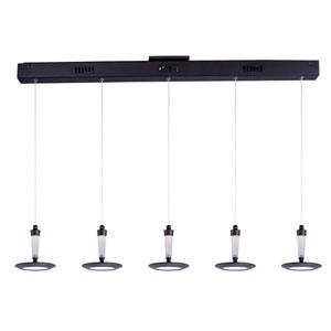 Hilite Bronze Five-Light LED 4-Inch Pendant