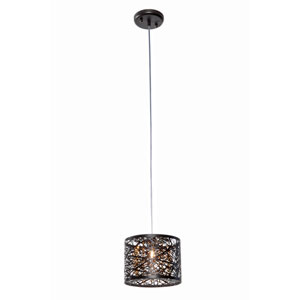 Inca Bronze 8-Inch One Light Mini Pendant
