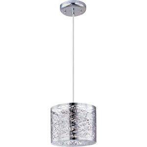Inca Polished Chrome One-Light LED 8-Inch Mini Pendant