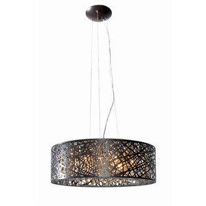 Inca Bronze Nine-Light LED 24-Inch Pendant