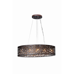 Inca Bronze Nine-Light LED 12-Inch Pendant