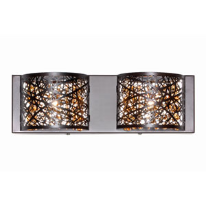 Inca Bronze Two-Light LED 4-Inch Bath Fixture