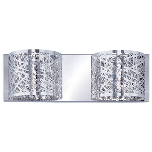 Inca Polished Chrome Two-Light LED 4-Inch Bath Fixture