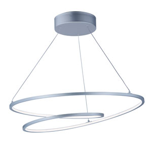 Cycle Matte Silver LED Pendant