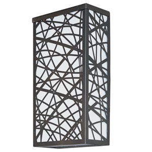 Inca Bronze Four-Light 7-Inch LED Outdoor Wall Sconce