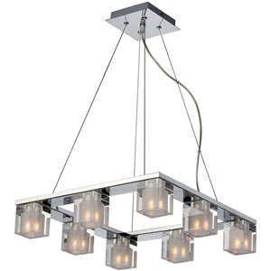 Blocs Eight-Light Chandelier