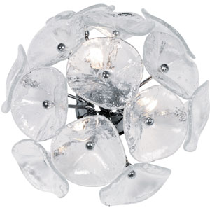 Fiori Clear Murano Three-Light Wall Sconce