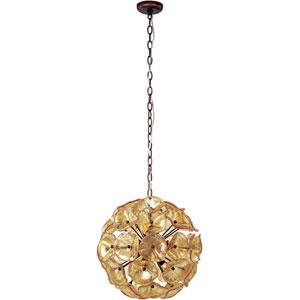 Fiori Small Amber Murano Pendant