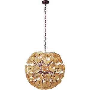 Fiori Large Amber Murano Pendant
