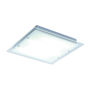 Contempra Brushed Aluminum 21.5-Inch Fluorescent Two Light Flush Mount