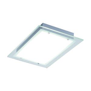 Contempra Brushed Aluminum 13.75-Inch Fluorescent Two Light Flush Mount