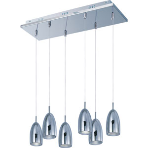 Bullet Polished Chrome Six-Light LED Mini Pendant