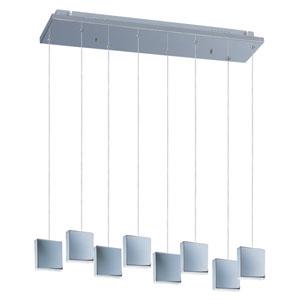 Brick Polished Chrome Eight-Light LED 39-Inch Pendant