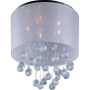 Veil Polished Chrome Five-Light Flush Mount