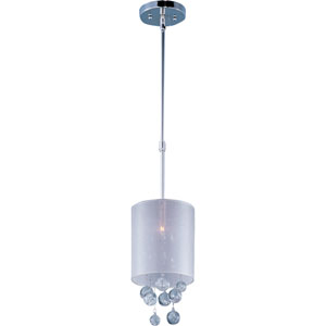 Veil Polished Chrome One-Light Mini Pendant