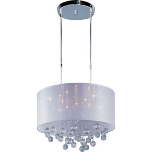 Veil Polished Chrome Nine-Light Pendant
