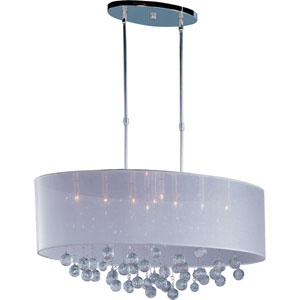 Veil Polished Chrome Nine-Light Oval Pendant