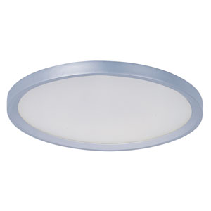 Moonbeam Metallic Silver LED One Light Flush Mount