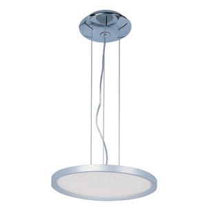 Moonbeam Metallic Silver One Light LED Single Pendant