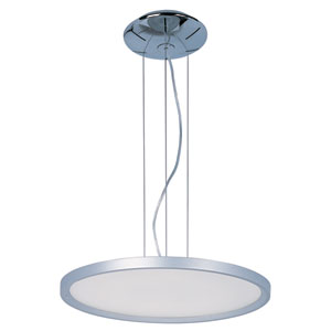 Moonbeam Metallic Silver 19.5-Inch One Light LED Single Pendant