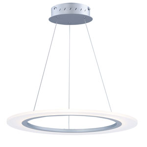 Saturn II LED Matte Silver 24-Inch Pendant