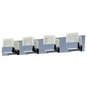 Fizz III Polished Chrome Eight-Light LED 30-Inch Bath Fixture